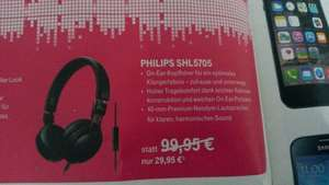 Philips SHL5705BKP On-Ear-Kopfhörer Telekom On- und Offline 29,95 €