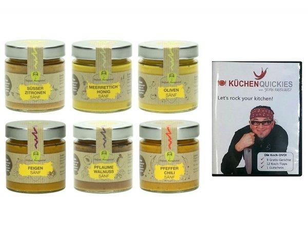 STEFAN MARQUARD 6er Gourmet Senf Geschenkset plus Koch-DVD @null.de für 4,99€ inkl Versand