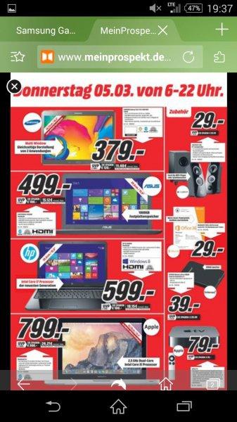 Samsung Galaxy Tab S Wifi 16GB 10,5 Zoll, Media Markt Pirmasens, große Neueröffnung