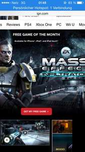 Reminder -- IGN Game of the month (Mass Effect  Inflitrator) iOS