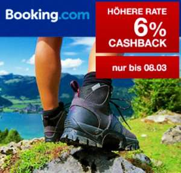 Qipu: 6% Cashback bei booking.com - NUR DIESE WOCHE