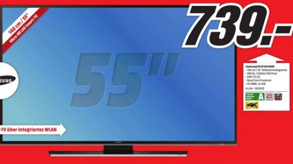 Samsung UE 55 HU 6900 zum Jubiläumspreis im Media Markt Köln Arcaden