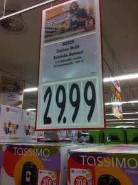 Tassimo Kaffeeautomat quasi umsonst! Kostet 29,99 Euro mit Kaffee-Gutschein für 30 Euro !! Kein Spaß!!