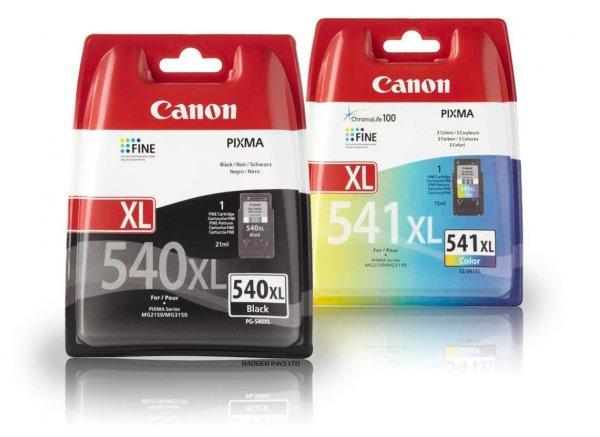 Canon XL-Tintenpatronen PG-540XL und CL-541XL für Amazon-Prime-Kunden ein Schnapper