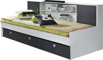 Rauch Jugendbett Bett mit Schubkästen grau weiß, 214,99 EUR @ roller