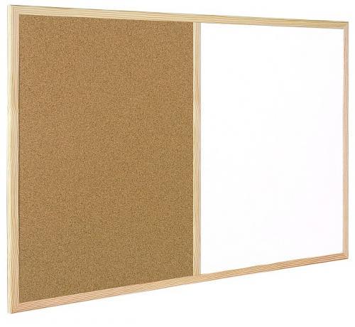 Whiteboard/Korkwand Kombinationstafel - 90x60cm