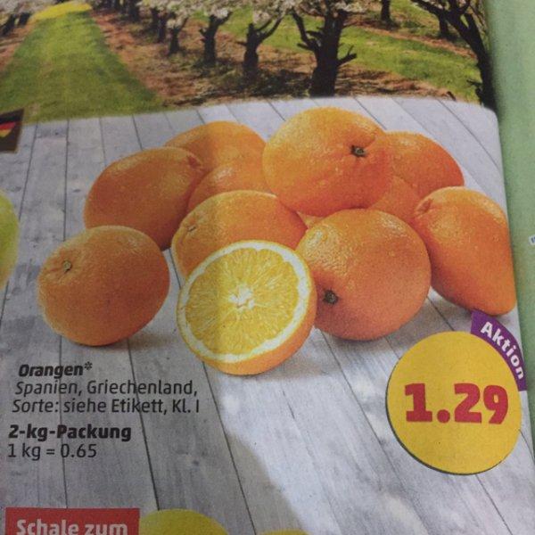 2kg Saftorangen für 1.29€ (Kilopreis:0,65€)