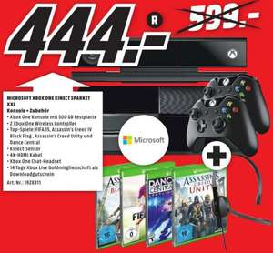 [Lokal Rostock MM] Xbox One 500GB, Kincect, 2 Controller, 4 Games, HDMIKabel, 14d XBoxLive