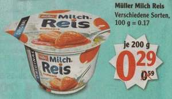 [GLOBUS] Müller Milchreis 200g (09.03. - 14.03.)