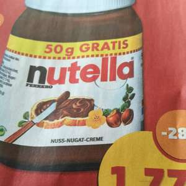 Nutella 500g Glas für 1.77€