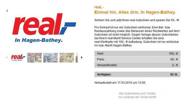 [lokal Hagen] 100€ real,- Guthabenkarte für 52€ am 17.03.2015