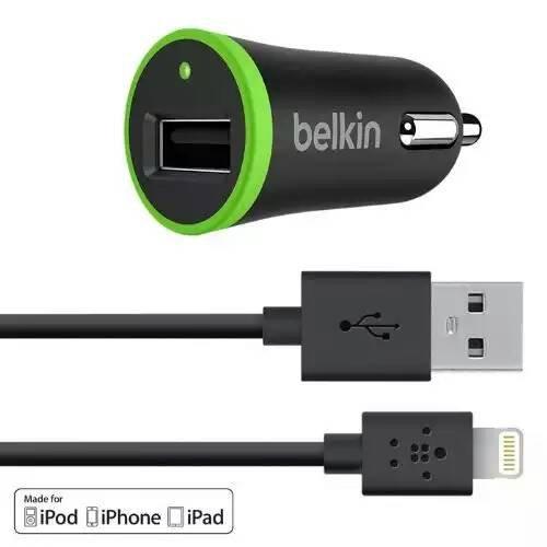 [Amazon (Prime)] Belkin Kfz-Schnellladegerät (2100 mA, inkl. 1,2 m Lightning-Kabel)
