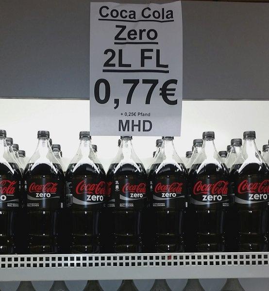 [Lokal Mülheim a. d. R. bei Rewe Aktienstr. 342] Cola Zero 2 Liter zzgl. Pfand
