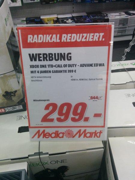 XBOX ONE 1TB inkl. COD Advanced Warfare für 299€ im Media Markt Nordwestzentrum FFM