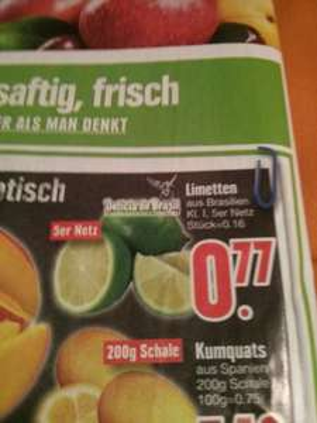 Limetten Kl1 5er Netz , Edeka Südbayern ab 9.3