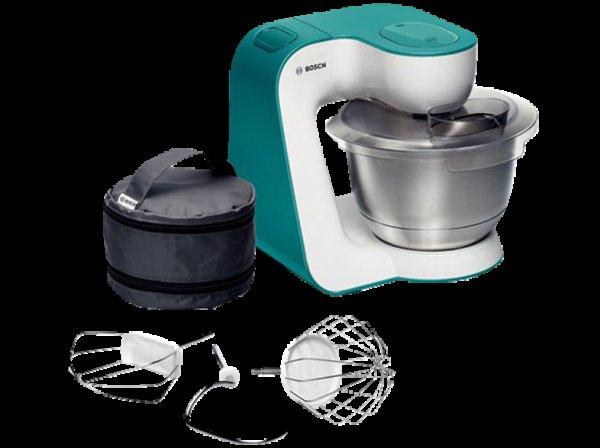 (Saturn.de) Küchenmaschine BOSCH MUM 54D00 weiß/dynamic blue PVG 160€