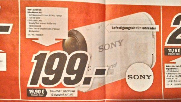 [Lokal Wolfsburg/Gifhorn] Sony HDR-AS100VB Bike Edition bei Mediamarkt