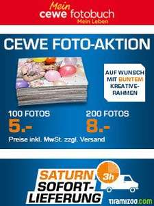 Saturn CEWE Foto Aktion  100 Fotos 6€ und 200 Fotos 9€