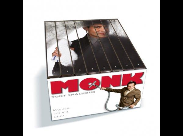 Monk Komplettbox (Staffel 1-8 - 124 Episoden  auf 34 Disks) für 29.99 bei Saturn.de