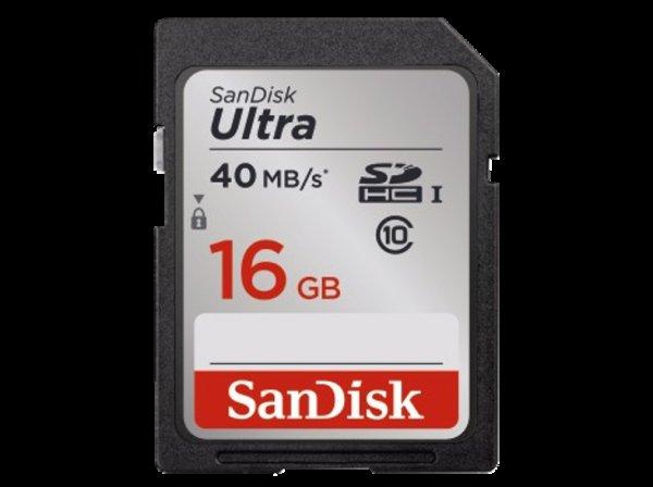 SANDISK SDHC Ultra 16GB, Class 10, UHS-I, 40MB/Sec für 6,99 € @saturn.de