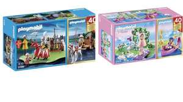 Playmobil Jubiläums-Kompakt-Set Ritterturnier (5168)  & Prinessinnen-Insel (5456) für 9,99 € bei Real