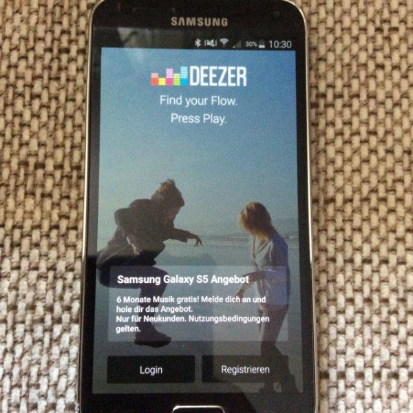[Samsung S5] 6 Monate DEEZER Premium+
