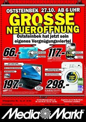 [Morgen] Neueröffnung MediaMarkt in Oststeinbek u.a. Samsung N145 Netbook 197 EUR