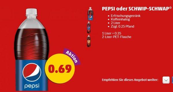 Pepsi 2 Liter für 0,69 € @Penny (bundesweit)