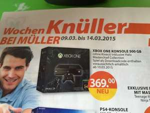 Xbox One (ohne Kinect) mit Halo: The Master Chief Collection beim Müller (Halle/Saale)