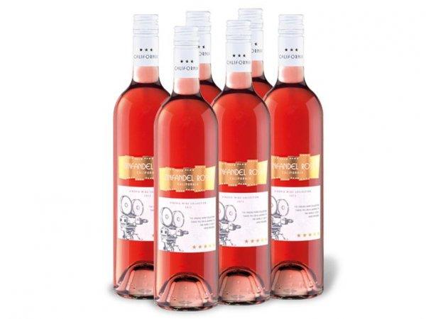 6 x Vineris Zinfandel Rosé California, Roséwein für 8,97€ zzgl. 4,95€ Versand @Lidl Online