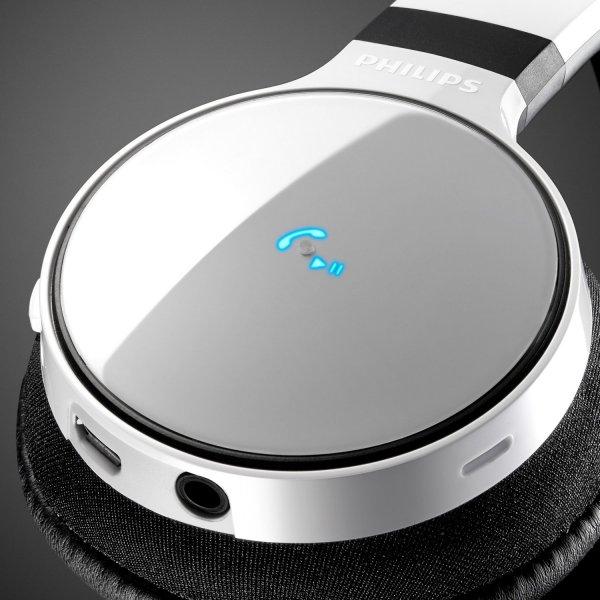 Philips SHB9150WT/00 Kabelloser On-Ear Bluetooth-Kopfhörer (Bluetooth 2.1 + EDR, NFC, digitale Klangoptimierung) für 51,89€ statt 74,99€ idealo