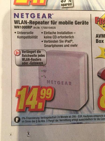 [Expert] (lokal, Schweinfurt / Bad Kissingen / Hassfurt ...) Netgear WLAN Repeater WN100RP für 14,99€ (Idealo: 21€ inkl. Versand)