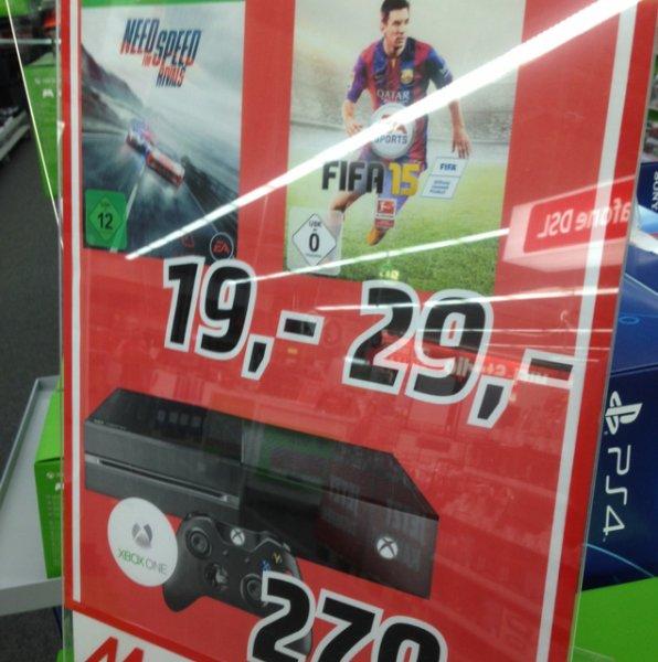 [MM Zwickau] Xbox One 299€, Fifa 15 29€, NFS:R 19€