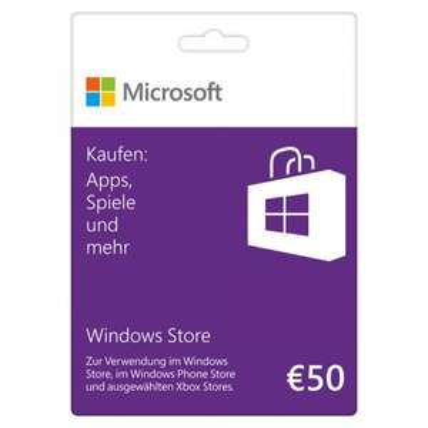 NBB online Microsoft Windows Store 50 € Guthabenkarte