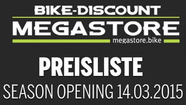 [lokal, Bonn] Bike-Preisliste fürs Season Opening am 14.3. im Bike-Discount Megastore