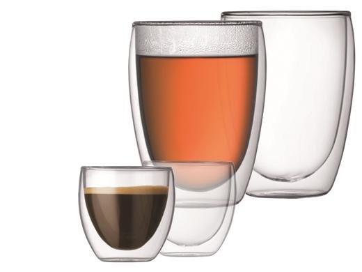 Bodum Pavina doppelwandige Gläser 4er Pack (2x 0,35l / 2x 0,08l) für 19,95€ zzgl. 5,95€ Versand @iBOOD