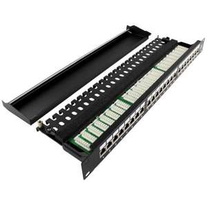 """[deluxecable.de] Ligawo Patchpanel 24-fach CAT.6A 19"""" 1HE"""