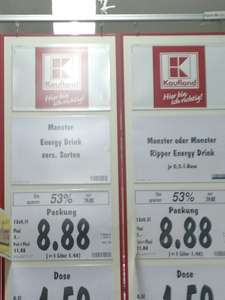 [Lokal] Kaufland Plauen, Monster Energy, 12er Pack