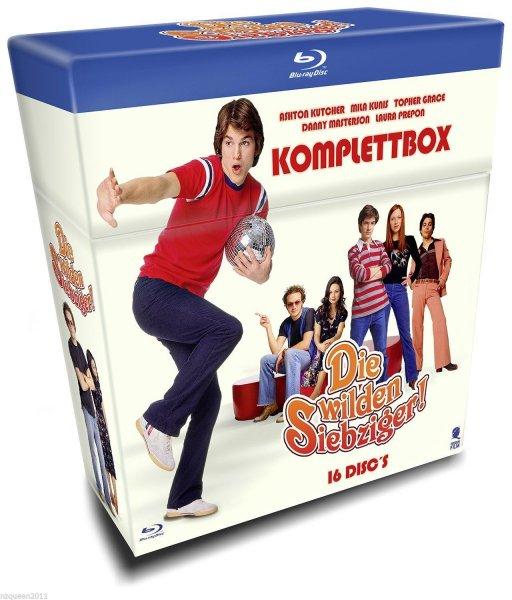 [Amazon Blitz] Die wilden Siebziger - Die Komplettbox mit allen 200 Folgen auf 16 Blu-rays (Cigarette Box mit Episodenguide und Fanposter) für 64,97€