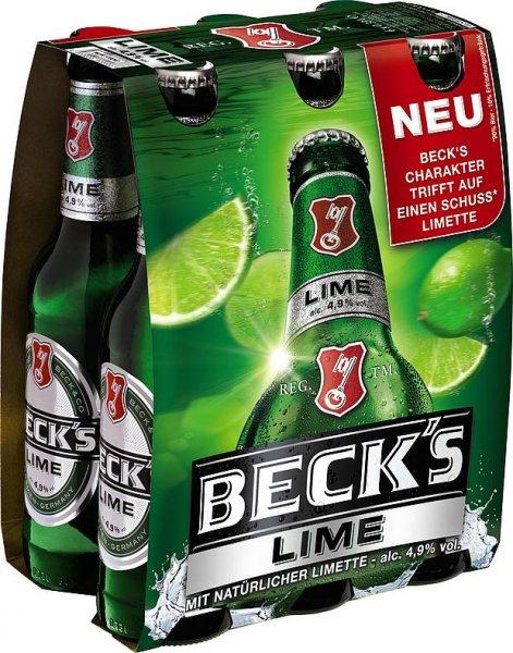 [NAHKAUF HANAU] Becks Lime 6x 0,33l für 2,45€