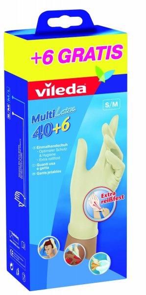 VILEDA MULTI LATEX 40+6 Einmalhandschuh S/M o. M/L für 2,99€ @ Saturn.de