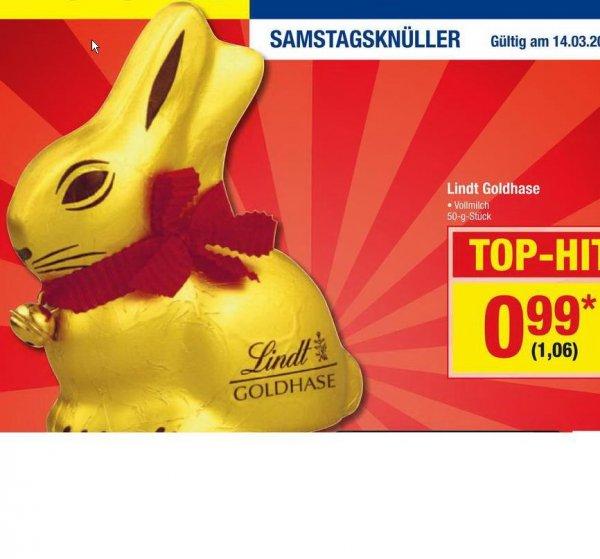 [Metro] Samstagsknüller nur am 14.03. GOLDHASE von LINDT, 50g für nur 1,06 EUR