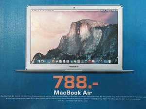 (Lokal) Saturn Berlin & Potsdam Apple MacBook Air MD760D/B 13 Zoll 128GB SSD für 788 Euro