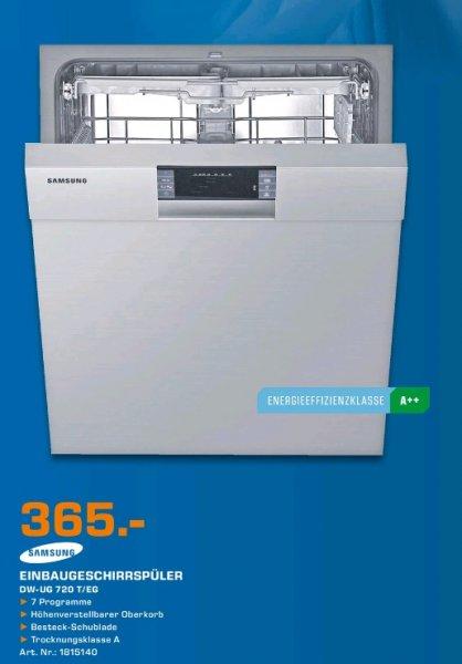 Saturn Hildesheim Samsung DW-UG720T Geschirrspüler 365€ statt 479€ idealo