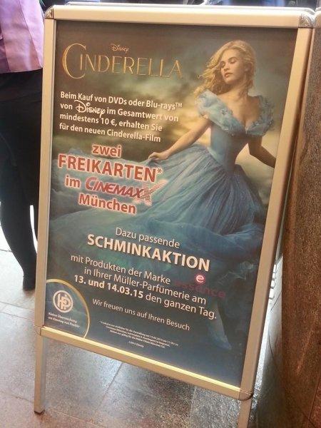 [lokal München] Disney DVD oder BluRays im Wert von mindestens 10€ kaufen und 2 Freikarten für den Film Cinderella erhalten