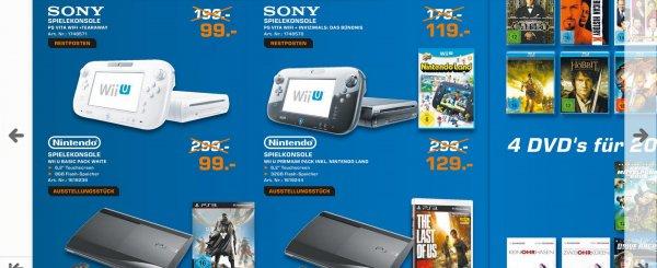 WiiU 99€ oder Premium für 129€, Saturn Neckarsulm