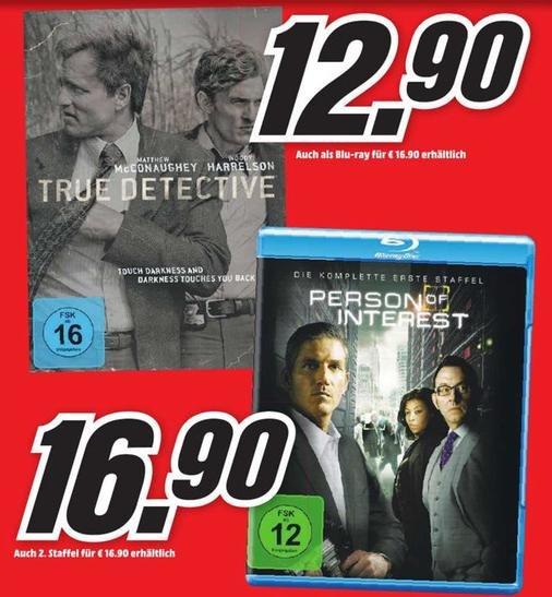 [Lokal] Media Markt München Pasing Arcaden True Detective Staffel 1 (Blu-Ray) für 16,90€ / (DVD) 12,90€ // Person of Interest (Blu-ray) Staffel 1&2 jeweils 16,90€