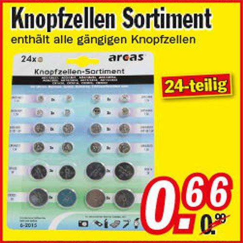 24er Alkaline + Lithium Knopfzellen Sortiment für nur 66 Cent! bei [Zimmermann]