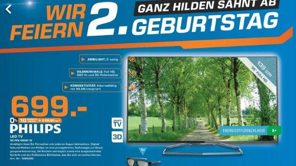 [lokal Saturn Hilden] sehr gute TV Angebote! Sony 4K TV KD-49x850, Philips Ambilight 55PFK6959