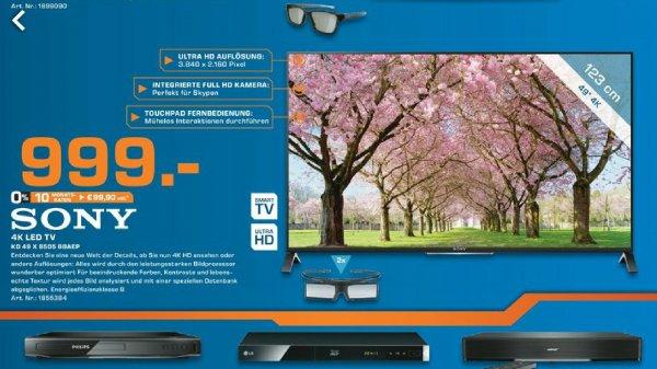 [lokal saturn Hilden] sony 4K TV KD-49X8505 für 999€ (Idealo: 1255,99€)